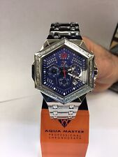 Men Aqua Master Jojo Jojino Joe Rodeo St SteeMetal Band 48mm Diamond Watch W#356