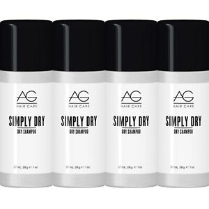 TRAVEL SIZE * 4 PACK! AG HAIR CARE SIMPLY DRY SHAMPOO SPRAY 1 OZ STYLE REFRESHER