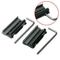 1Pair Lot Tools Picatinny 11mm Black Dovetail To 20mm Weaver Rail Adapter Mounts