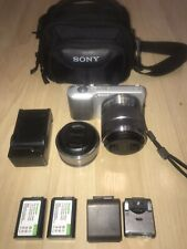 Sony Alpha Nex-3 Camera With Two Lenses
