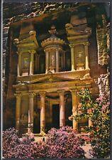 Jordanien Jordan used Post Card Postkarte Bauwerk building Petra [cm625]