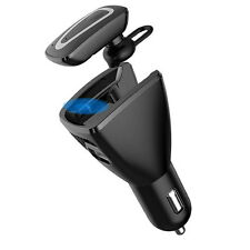 Wireless Bluetooth Dual USB Car Charger Car Stereo Headset Headphone Earphone