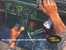 LAND ROVER SERIES-IIA '88' & '109' RETRO POSTER BROCHURE CLASSIC ADVERT A3