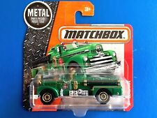 2016 Matchbox EMERALD GREEN CLASSIC 1952 SEAGRAVE FIRE ENGINE - mint on card!