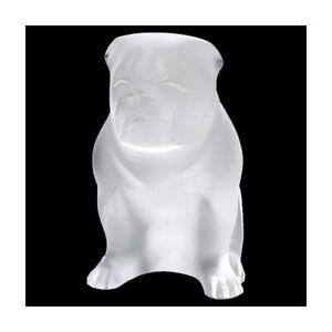 GENUINE LALIQUE Bulldog Dog Crystal Sculpture Clear (10520200)