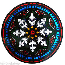 STAINED GLASS WINDOW ART - STATIC CLING  DECORATION - SOUTHWARK STAR MOTIF