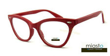 "(3 PAIRS/3 COLORS) MIASTO ""SKEETER"" CLASSIC CAT EYE READERS READING GLASSES+3.00"