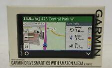"Garmin DriveSmart 65 Automotive Mountable GPS Navigator with Amazon Alexa - 6.95"""