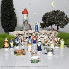 Vintage French Provence Feves Miniature Creche Santons Nativity Figurines 18 pcs