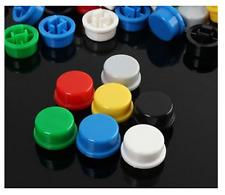 7x CAPPUCCIO PULSANTE 12X12 mm Tact Switch 7 COLORI mini micro rosso blu verde