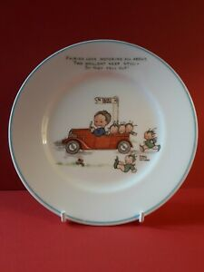 """SHELLEY, MABEL LUCIE ATTWELL,  6"""" NURSERYWARE PLATE, VERY GOOD CONDITION"""