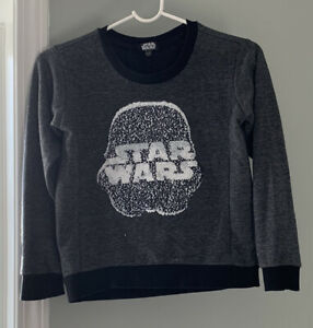Star Wars Stormtrooper Reversible Sequin Boys Sweater Long Sleeve Size L