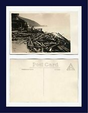 CALIFORNIA PACIFIC PALISADES STORM WRECKAGE REAL PHOTO POSTCARD NUMBER 8