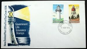 New Zealand – 1976 Life Assurance Pair – Lighthouses FDC (Cat Used £5) (Se5)