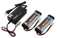2 x Tenergy 7.2V 3800mAh NiMH RC Car Battery w/ Tamiya + Smart 6v-12v Charger