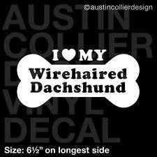 "6.5"" Wirehaired Dachshund vinyl decal car window laptop sticker - dog breed"