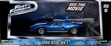 GREENLIGHT 1969 FORD GT 40 MK I FAST AND FURIOUS MOVIE FAST FIVE 2012 1/43 86224