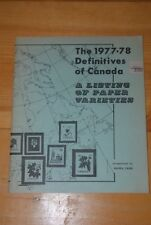 Weeda Literature: 1977-78 Definitives of Canada, Andrew Chung 1978 2nd Printing