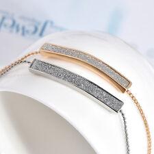 Fashion Gold Silver Pave Bar Slider Bracelet Adjustable Drawstring Tightening
