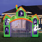 12ft Wide Inflatable Haunted House Archway Flashing Lights Halloween Decorations