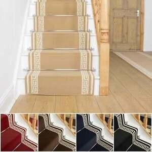 runrug Long Stair Carpet Runner Heavy Duty Washable Bordered Modern Key