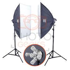 Continuous Lighting Softbox Studio Kit - Photography Photo Set 2 Daylight Video