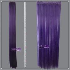 Dark Purple Hair Weft Extention (3 pieces) - 100cm High Temp - Cosplay 8_737