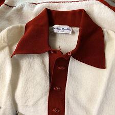 Minty Vintage 60's Polo Shirt Knit Polyester Atomic Retro Hippy Hollywood Pimp M