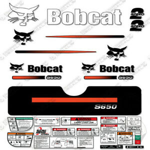 Bobcat S650 Compact Track Loader Decal Kit Skid Steer S-650 (Straight Stripes)