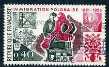 STAMP / TIMBRE FRANCE OBLITERE N° 1740 IMMIGRATION POLONAISE