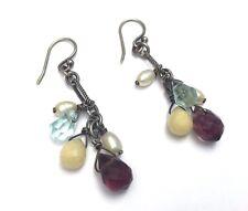 Rare!! Silpada Freshwater Pearl Colorful Glass Bead Earrings - W1246