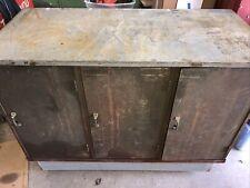Vintage 87 Drawer Industrial Metal Cabinet  Parts Artwork Tools  Rolling Cart