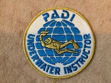 New listing RARE PADI UNDERWATER INSTRUCTOR PATCH - SCUBA DIVE