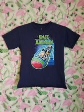 Disneyland World Space Mountain Youth Large Shirt Mickey Pluto Goofy Donald