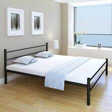 vidaXL Bedframe 180x200 cm Metaal Zwart Bed Bedden Frame Frames Lattenbodem