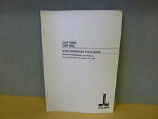 Okuma Osp7000L Osp700L Safe Operation Functions Instraction Manual (11915)