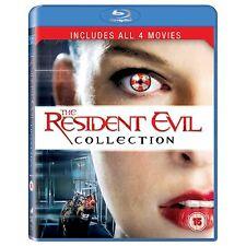 Resident Evil 1 2 3 4 Blu-ray Region B/Aus Box Set 1-4 APOCALYPSE AFTERLIFE
