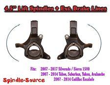 "07 - 2017 Silverado Sierra C1500 2WD 4.5"" Lift Spindles Knuckles Ext Brake Lines"