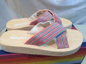 Rocket Dog Womens Moon Bubble Gum Platform Sandals Mules Size UK 6 / EU39 RRP£32