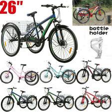 "Adult Mountain Tricycle 7 Speed 26"" 3 Wheel Cruiser Trike MTB Bike w/big Basket"