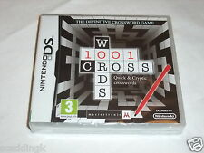 Nintendo DS Game 1001 Crosswords Brand New Factory Sealed