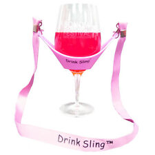 Hands Free Pink Wine Glass Holder with Pink Lanyard x 2 sets