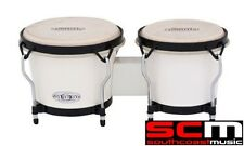 Toca TOC2100SW Synergy Bongos White Synergy Bongo Drums Hand Drum Brand New