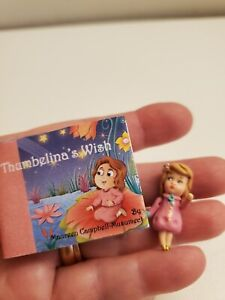 Miniature book Thumbelina's Wish & mini doll Easter for Betsy McCall Hitty Look!
