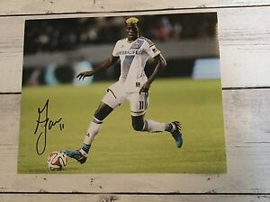 Gyasi Zardes Signed LA Los Angeles Galaxy 8x10 Photo Autographed d