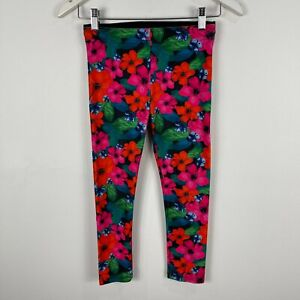 Lorna Jane Womens Leggings Small Multicoloured Floral Elastic Waist Stretch