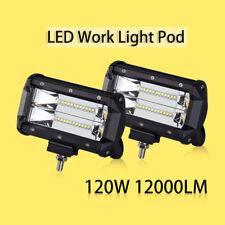 240w LED Work Light Pod Cube Bar Spot Flush Flood Beam Driving Fog Lamp OSRAM x2