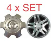 2003-07 Toyota TUNDRA SILVER Wheel Center Hub Cover Cap 42603 420NM 01 Set Of 4