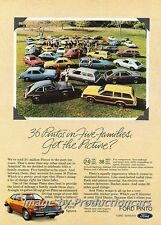 1980 Ford Pinto - 36 Pintos -  Original Advertisement Print Art Car Ad H98