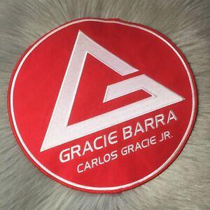 New Gracie Barra Brazilian Jiu-Jitsu MMA Red Embroidered Patch Unused